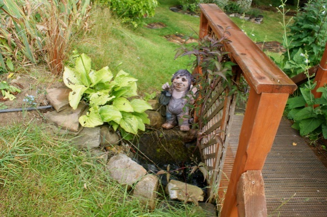 And no water feature is complete without a troll bridge