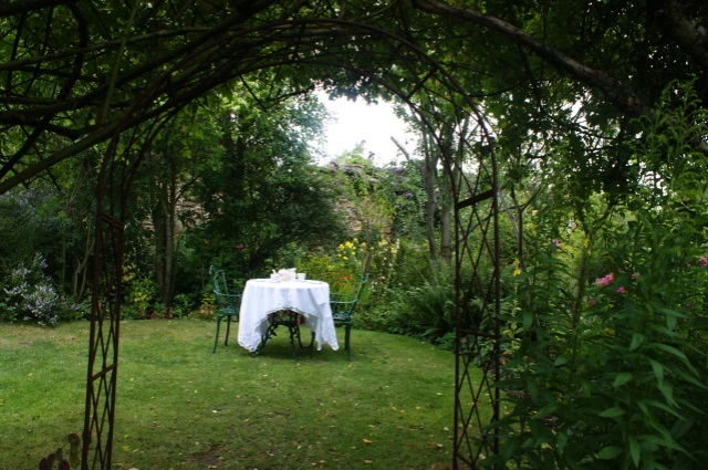"Little ""rooms"" everywhere, with tables set for tea - you can book afternoon tea and have it served to you in the garden"